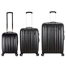 Buy John Lewis Monaco II 4-Wheel Medium Suitcase, Graphite Online at johnlewis.com