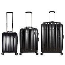 Buy John Lewis Monaco II 4-Wheel Medium Suitcase, Graphite Online at johnlewis.com