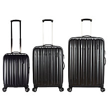 John Lewis Monaco II 4-Wheel Medium Suitcase, Graphite
