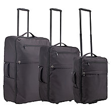 Buy Kin by John Lewis Casual 2-Wheel Suitcase Range, Black Online at johnlewis.com