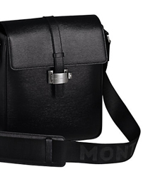 Montblanc Westside North South Leather Shoulder Bag, Black, £530