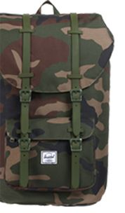 Herschel Little America Camouflage Backpack, Camouflage Green