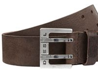 Diesel Bitwo Leather Belt, Brown