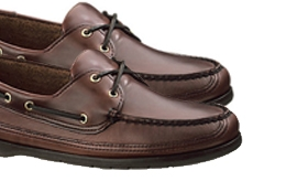 Sebago Schooner Leather Boat Shoes, Brown, £110