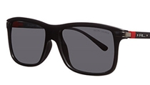 Polo Ralph Lauren PH4084 Square Sunglasses, Shiny Black/Red, £104