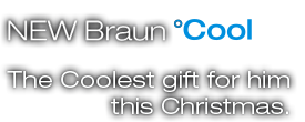 NEW Braun Cool Tec The Coolest gift for him this Christmas.