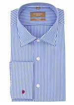Richard James Mayfair Clean Stripe Shirt, Blue