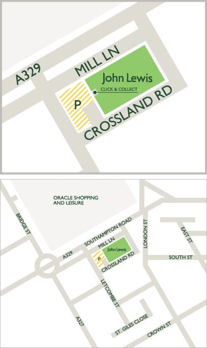 Map of Reading service building