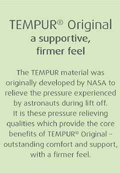 Tempur Original a supportive firmer feel