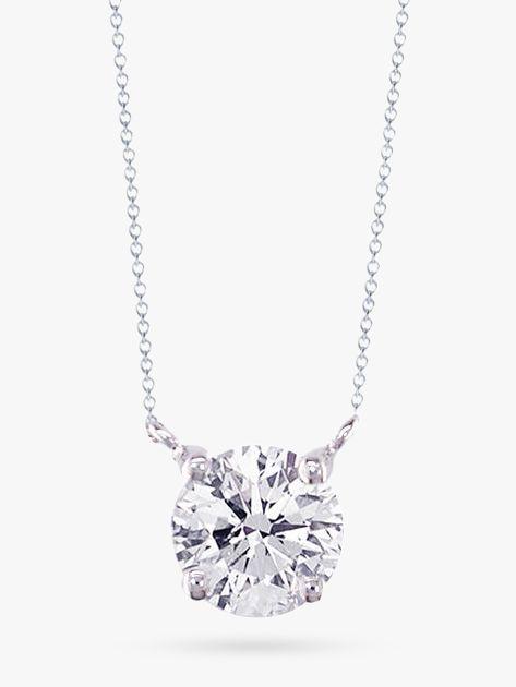 White Gold Pendant White Gold Diamond Solitaire Pendant Necklace